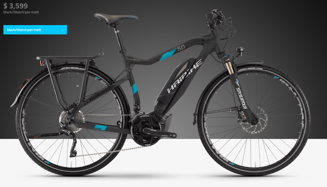 haibike sduro trekking shocking rides electric bikes. Black Bedroom Furniture Sets. Home Design Ideas